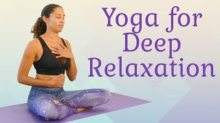 Fall Asleep Fast ♥ Yoga for Sleep & Deep Relaxation, Beginners Gentle Bedtime Stretch, 10 Mins