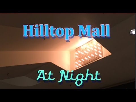 Dead Mall At Night: Dimming the lights at Hilltop Mall