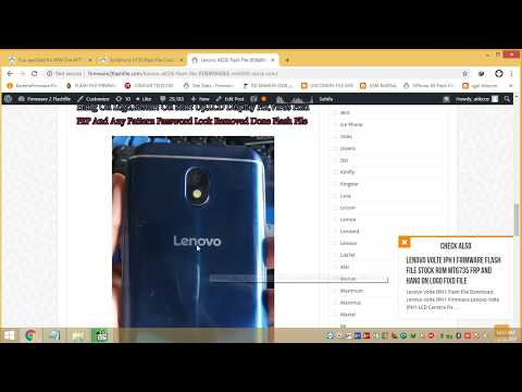 Lenovo A828i Flash File Hang Logo Virus FIxed Firmware Cm2 Readed