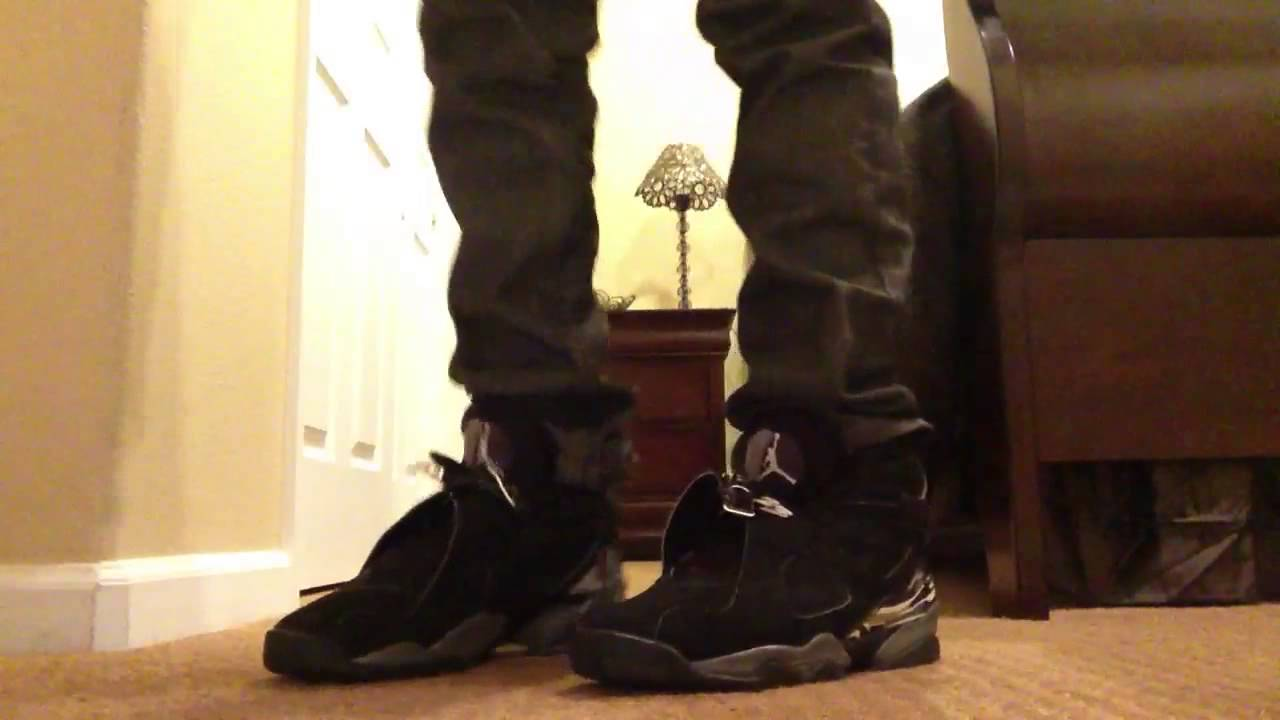 detailed look 7b0e9 e6630 Air Jordan retro chrome 8 on feet - YouTube