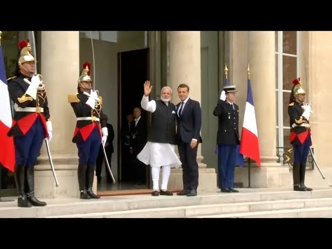 Prime Minister Modi and President Macron - 2018 Champions of the Earth