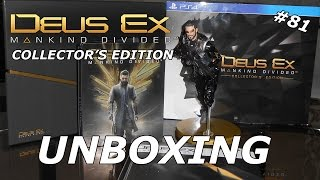 Deus Ex: Mankind Divided - Collector's Edition (PS4) - Unboxing #81