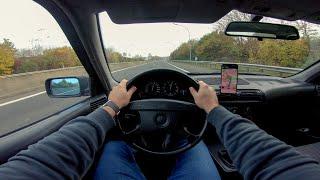 BMW 518i E34 Touring POV Drive