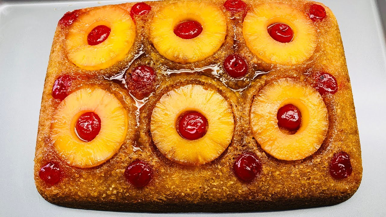 como hacer pastel de piña volteado