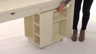 Choose This Desk For Teenagers And Storage Cart For Convenient Storage | Pbteen