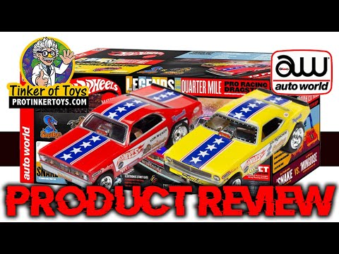 Snake Vs Mongoose | 13' Pro Racing Dragstrip HO Scale | Auto World | Product Review