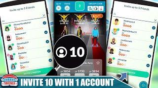 HOW TO *INVITE 10 PLAYERS* WÏTH 1 ACCOUNT TO A REMOTE RAID! REMOTE RAID INVITES | Pokémon GO