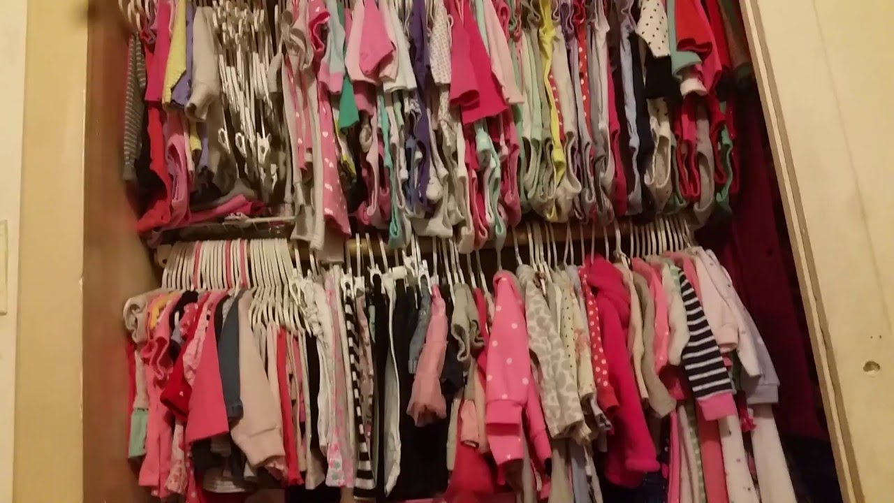 Kimberly Closet Tour! Tips U0026 Ideas How To Organize Baby Clothes Closet!