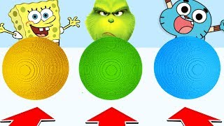 Minecraft :Do Not CHOOSE THE WRONG BALL! (SPONGEBOB,GRINCH,GUMBALL) (PS4/XboxOne/PE/MCPE)
