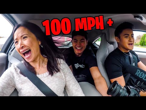 MOM REACTS TO SUPERCAR LAUNCH! **+100 MPH**