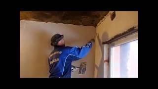 Баня из кирпича/ Потолок своими руками/Отделочные работы.Фильм:(9-1)