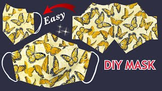 New Style Easy Simple Mask Diy 3D Face Mask Easy Pattern Sewing Tutorial Breathable Mask Ideas
