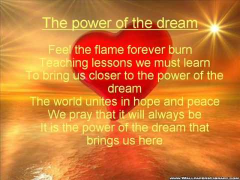 The power of the dream lyrics