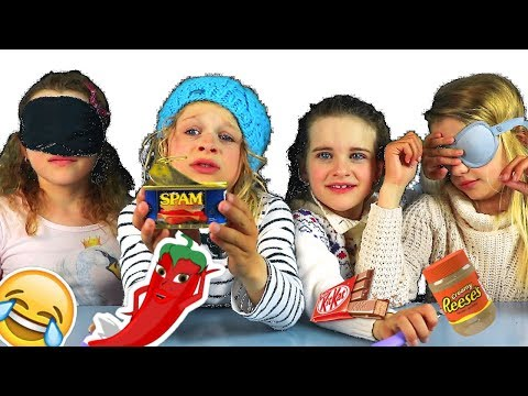 AUSTRALIAN KIDS BLINDFOLD FOOD TASTING || Sabre Norris & The Norris Nuts