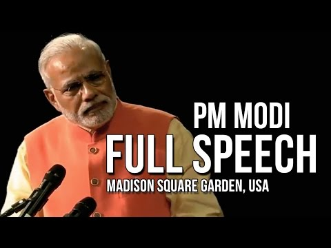 PM Modi full speech @ Madison Square Garden, New York, USA
