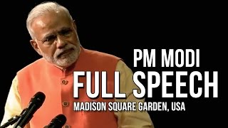 PM Modi full speech @ Madison Square Garden, New York, USA
