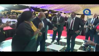 Zuma gets down to Kwaito with Defence CS Raychelle Omamo