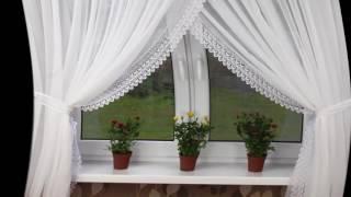 видео Как повесить тюль красиво и украсить окно?