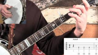 How To Play Grandfather's Clock On Banjo Using Inside Rolls!