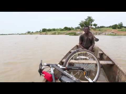 Canoe Ferry Crossing the Oti River at Mango, TOGO