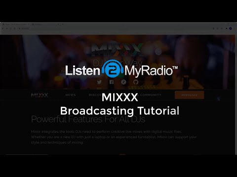 Listen2MyRadio MIXXX Streaming Software Tutorial