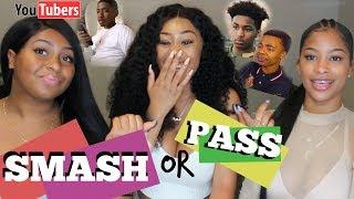 YOUTUBER SMASH OR PASS!! (PONTIACMADEDDG, LOU WOP, AND MORE) ft. Celia & Reanan
