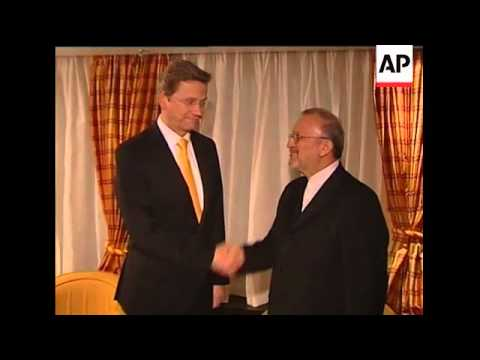German FM meets Iranian FM; protest; Chinese FM on Iran''s nuclear prog