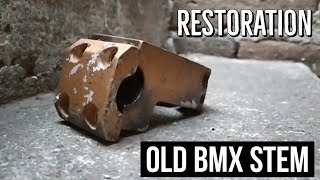 Restoration of an old bmx stem | Restauración de un viejo poste de BMX