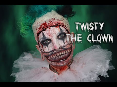 Twisty The Clown Make Up (American Horror Story) - 31 Days Of Halloween - Baby Bat Nox Palette
