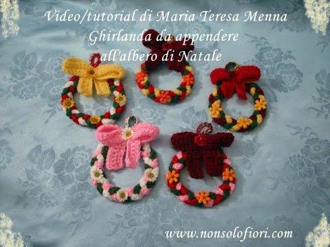 Ghirlanda Natalizia Uncinetto Crocheted Christmas Wreath Youtube
