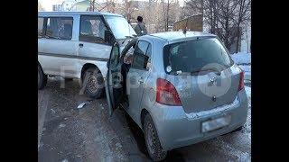 ДТП с пострадавшим произошло в Хабаровске из-за наледи на дороге.  Mestoprotv