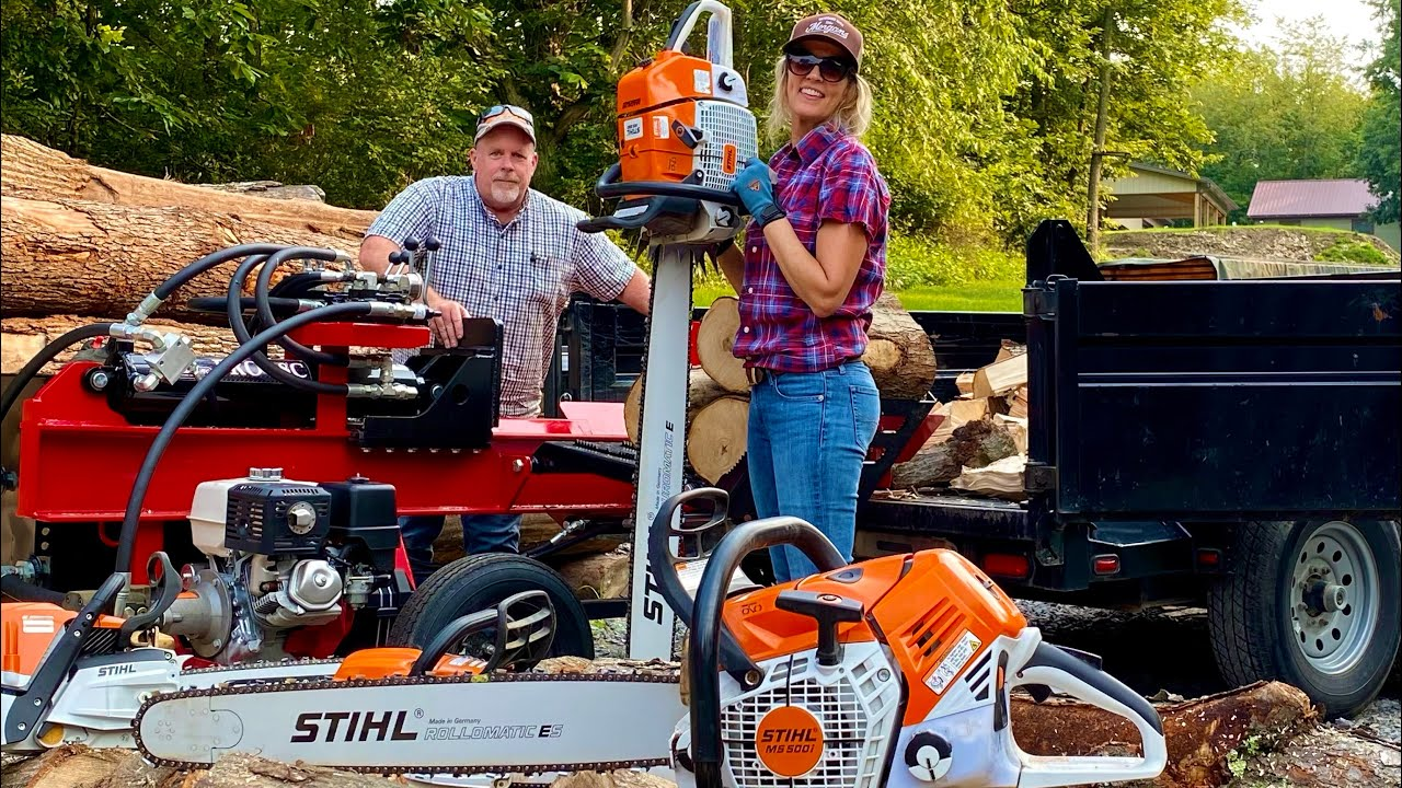 SURPRISING WINNER!  Stihl MS 880, MS 500i, MS 400, and MS 261 Cutting and Splitting Firewood