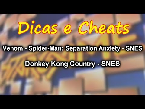 Dicas E Cheats Venom Spider Man Separation Anxiety E Donkey Kong Country Stargame Multishow Youtube