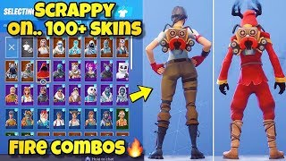 "NEW ""SCRAPPY"" BACK BLING Showcased With 100+ SKINS! Fortnite Battle Royale - NEW SPARKPLUG SKIN!"