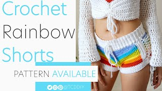 Crochet Rainbow Shorts | Pattern & Tutorial DIY