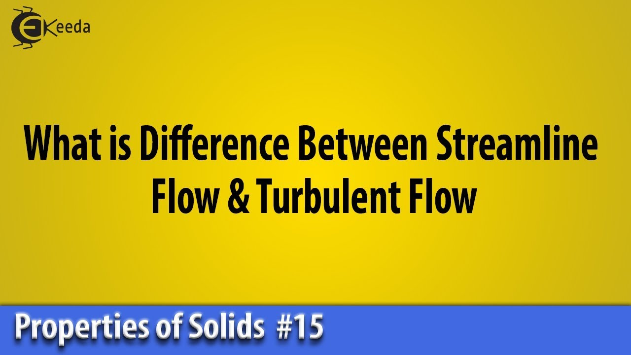 Difference Between Streamline Flow & Turbulent Flow ...