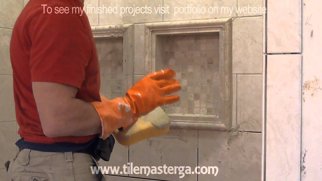 Part 6 How To Apply Grout On Shower Wall Tiles Diy Bathroom Tile Installation Brick Pattern You