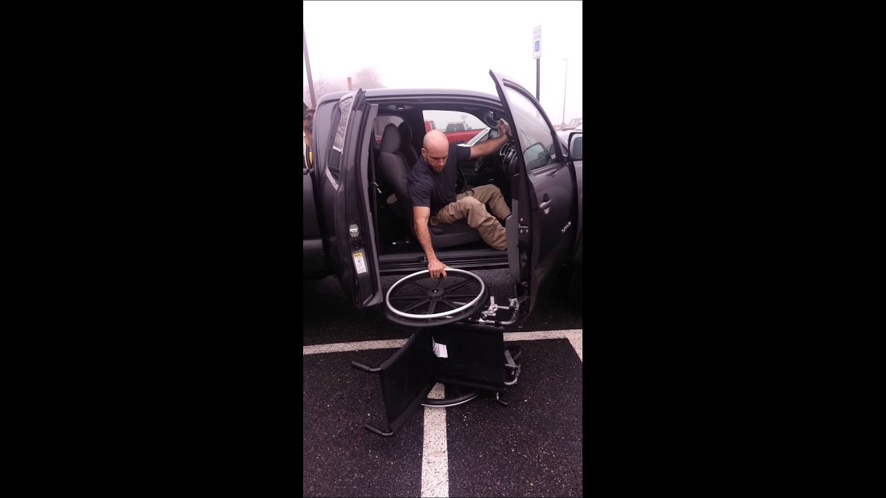 wheelchair to truck transfer youtube. Black Bedroom Furniture Sets. Home Design Ideas