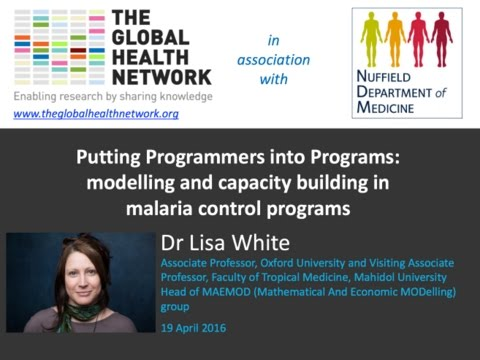 Putting Programmers into Programs: modelling and capacity building in malaria control programs