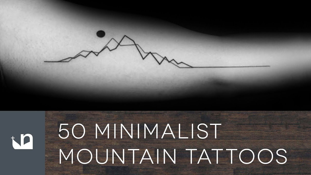 Men Minimalist Chest Tattoo: 50 Minimalist Mountain Tattoos For Men