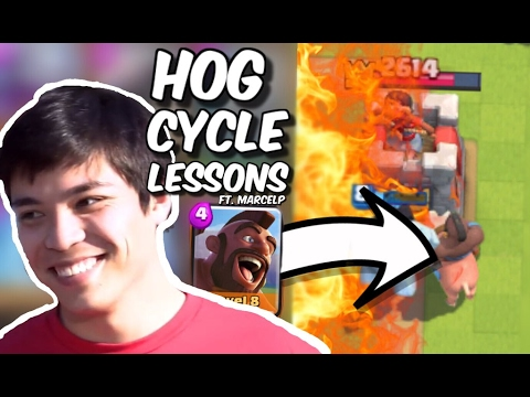 2.6 HOG CYCLE DECK : LIVE LESSONS w/ #1 Player Marcelp in Clash Royale