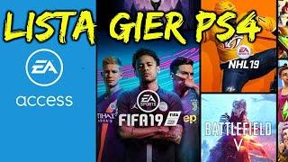 PS4 EA ACCESS - DOSTĘPNE TYTUŁY GIER