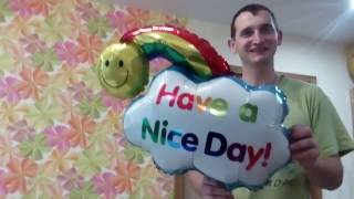 видео Как надувать фольгированные шары