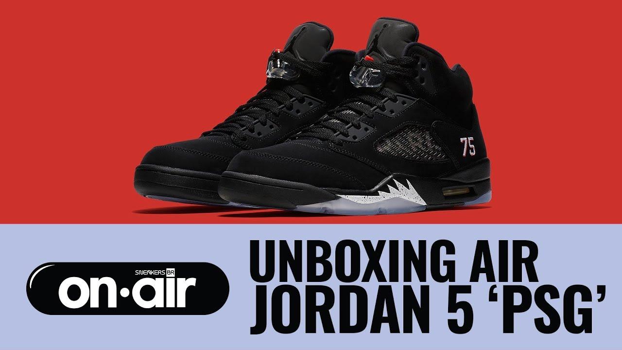 b2d1534186b1 SBROnAIR Vol. 94 - Unboxing Air Jordan 5  PSG   piranomeuair - YouTube
