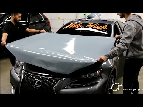 Hood Vinyl Wrap Highlights From Mile High Customs Level 2 Workshop