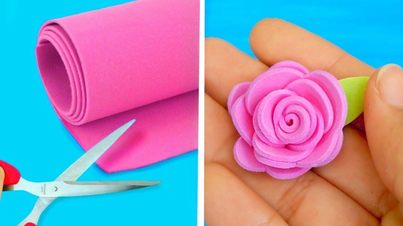 9 Flores Con Foamy Goma Eva Ideas Fáciles Para Decorar Regalar O Vender