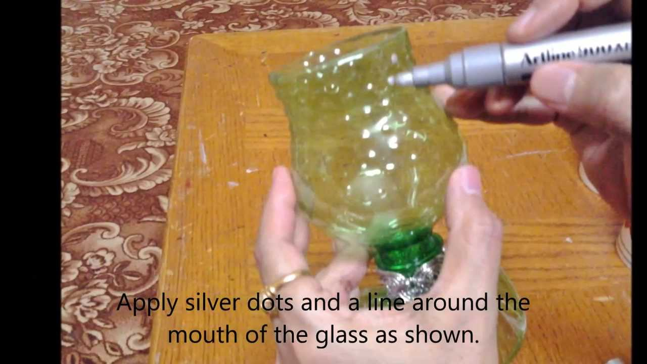 Best out of waste plastic glass show piece youtube for Waste material products