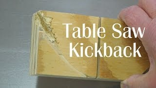 Table Saw Kickback