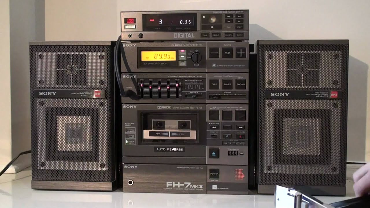 sony fh 7 mkii stereo w cd player youtube. Black Bedroom Furniture Sets. Home Design Ideas