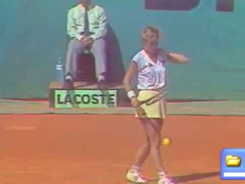 Chris Evert vs Lisa Bonder - French Open 1985